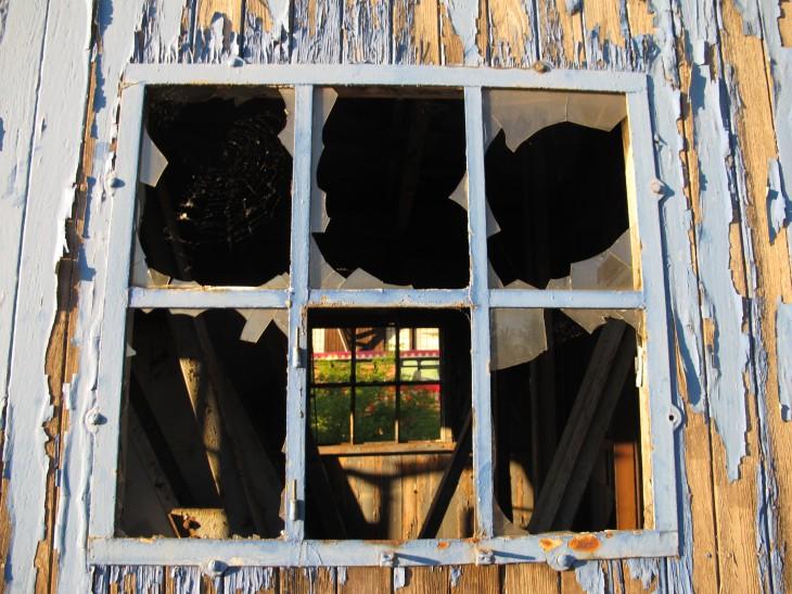 Verrottende Fenster