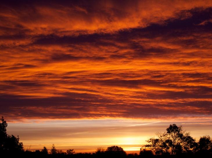 Sonnenaufgang über Marienthal